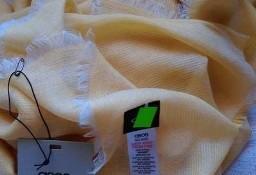 ASOS/ Ogromna chusta, żółty szal biznesowy, apaszka/ NOWY