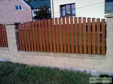 Ogrodzenia - przęsła ze sztachet metalowych