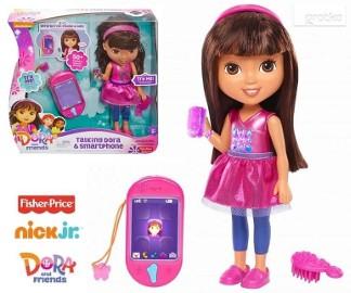 Lalka Interaktywna Mówiąca Dora smartfon Mattel Fisher Price