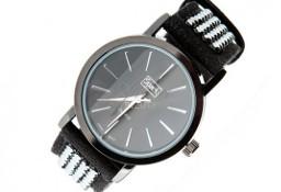 Duży zegarek damski z kryształkami Swarovski