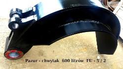 Pazury do chwytaka do złomu 600 litrów - Hardox
