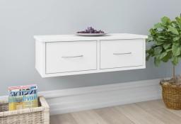 vidaXL Półka ścienna z szufladami, biała, 60x26x18,5 cm, płyta wiórowa800585