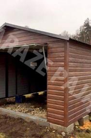 MONTAŻ GRATIS garaż blaszany drewnopodobny 4x6 brama uchylna PRODUCENT-2