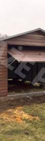 MONTAŻ GRATIS garaż blaszany drewnopodobny 4x6 brama uchylna PRODUCENT-3