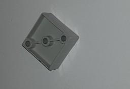 Łącznik plastikowy do profili aluminiowych typ H3 czarny i szary, 40x40x2