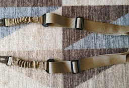 Sling brązowy pas nośny dwupunktowy zawieszenie do broni bungee