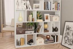 vidaXL Przegroda/regał na książki, biały, 110x24x110 cm, płyta wiórowa800360