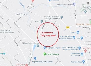 Działka budowlana Poznań Podolany, ul. Janiny Omańkowskiej