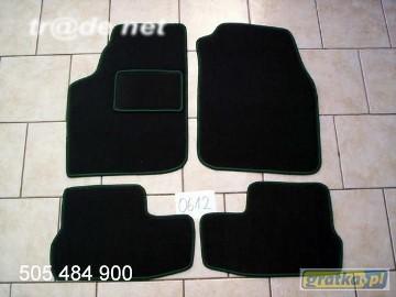 Ford KA 1996-2008 najwyższej jakości dywaniki samochodowe z grubego weluru z gumą od spodu, dedykowane Ford KA
