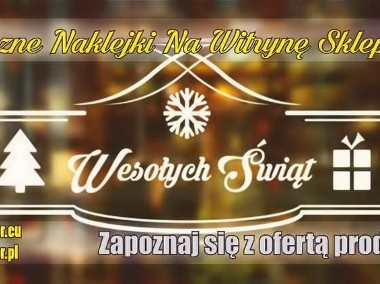 Świąteczne Naklejki Na Witrynę Sklepu - Boże Narodzenie-1