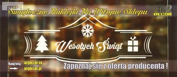 Świąteczne Naklejki Na Witrynę Sklepu - Boże Narodzenie