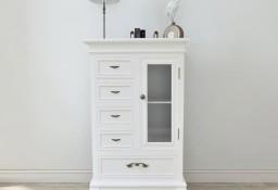 vidaXL Szafka z 5 szufladami i 2 półkami, biała241150