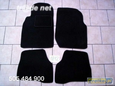 Nissan Almera N16 od 2000r. najwyższej jakości dywaniki samochodowe z grubego weluru z gumą od spodu, dedykowane Nissan Almera-1