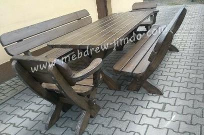 komplet ogrodowy meble ogrodowe stół ławki fotele stolarz
