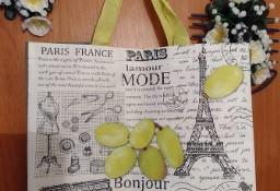 Ekskluzywna torba zakupowa/ torebka z motywem francuskim/ NOWA