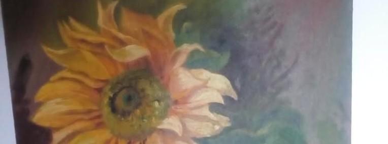 Obraz olejny słonecznik-1