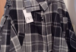 (36/S) ZARA/ Wełniany płaszcz biznesowy, ponczo na ciążę z Madrytu