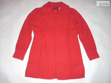 MODNY Długi Sweter Narzutka Elegancki 40 42 44 XL-1