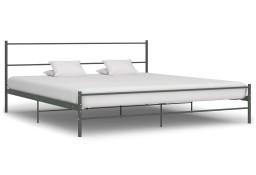 vidaXL Rama łóżka, szara, metalowa, 180 x 200 cm 284684