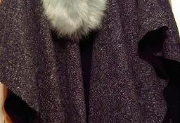 Firmowe, ekskluzywne, ciepłe i długie ponczo, peleryna z Londynu/ ONE SIZE
