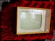 Stary telewizor Donja Strassfurt Zabytek lat 40-50' dla kolekcjonera