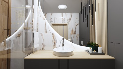 Nowoczesny Projekt małej łazienki online