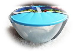 Duża miska do sałaty sałatek pojemnik z pokrywą i sztućcami 7 L Nowa