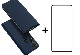 Etui DUX DUCIS + szkło do Motorola Moto G8 Granatowy