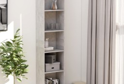 vidaXL 5-poziomowy regał na książki, betonowy szary, 40 x 24 x 175 cm 800850