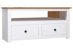 vidaXL Narożna szafka pod TV, biała, 93x49x49 cm, sosna, seria Panama282687