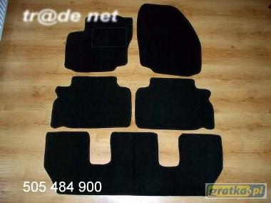 Ford Galaxy od 05.2006 do 2010 r. 3 rzędy najwyższej jakości dywaniki samochodowe z grubego weluru z gumą od spodu, dedykowane Ford Galaxy-1