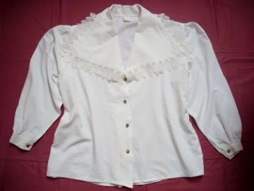 Elegancka Biała Koszula Gipiura 42 XL