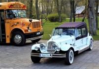 Luksusowe samochody do wynajęcia na wesele Zabytkowe auta na ślub Kabriolet Nestor Baron Limuzyny RETRO Excalibur LIMO