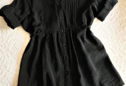 Czarna bluzka z krótkim rękawem  L