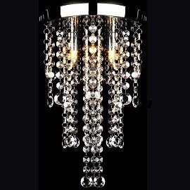 vidaXL Lampa sufitowa z kryształami, biała, metalowa 241382