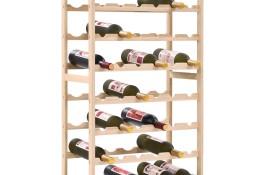 vidaXL Stojak na wino z drewna cedrowego, 57,5 x 28 x 102 cm 246441