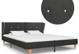 vidaXL Rama łóżka, ciemnoszara, płótno konopne, 160 x 200 cm 280570