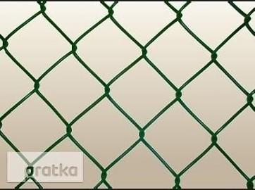 Siatka ogrodzenia 60x60x3,2mm h-125cm kolor zielony,czarny