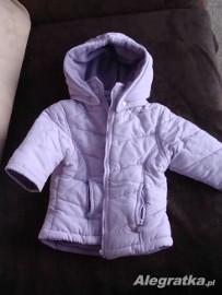 kurtka dziewczęca zimowa fioletowa 86