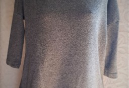 Szary sweter z czarną koronką  S