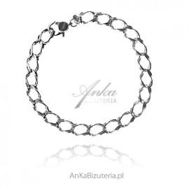 Bransoletka srebrna damska - biżuteria włoska