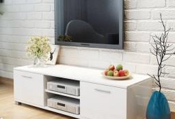 vidaXL Szafka pod TV na wysoki połysk biała 120x40,3x34,7 cm243041