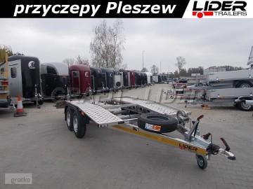 ST-005 przyczepa 450x200cm, laweta aluminiowa, szwajcarka, DMC 2400kg