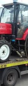 Transport maszyn rolniczych przyczep rozrzutników Stanisławów laweta-3