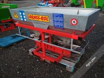 Rozsiewacz do nawozów GRASS-ROL Ocynkowany 600 litrów Żeliwne przekładnie TRANSPORT