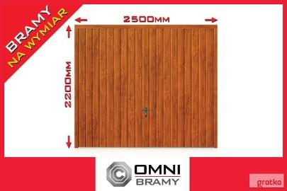 Brama Uchylna Garażowa ZŁOTY DĄB ORZECH Bramy Garażowe Drzwi do Garażu