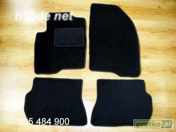 Mazda 2 2003-2007 najwyższej jakości dywaniki samochodowe z grubego weluru z gumą od spodu, dedykowane Mazda 2