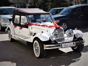 Zabytkowe Auto do ślubu RETRO samochód na wesele Kabriolet Alfa Romeo NESTOR BARON na ślub Limuzyny Wypożyczalnia samochodów ślubnych