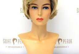 Peruka krótka z włosów syntetycznych w kolorze blond Końskie