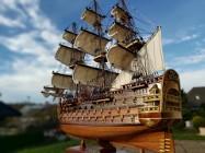 Drewniana Replika statku ROYAL LOUIS 74cm Rarytas idealny na prezent